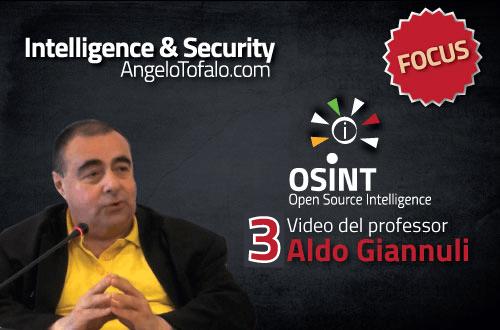 Professor Aldo Giannuli: Open Source Intelligence - Reverse Engineering