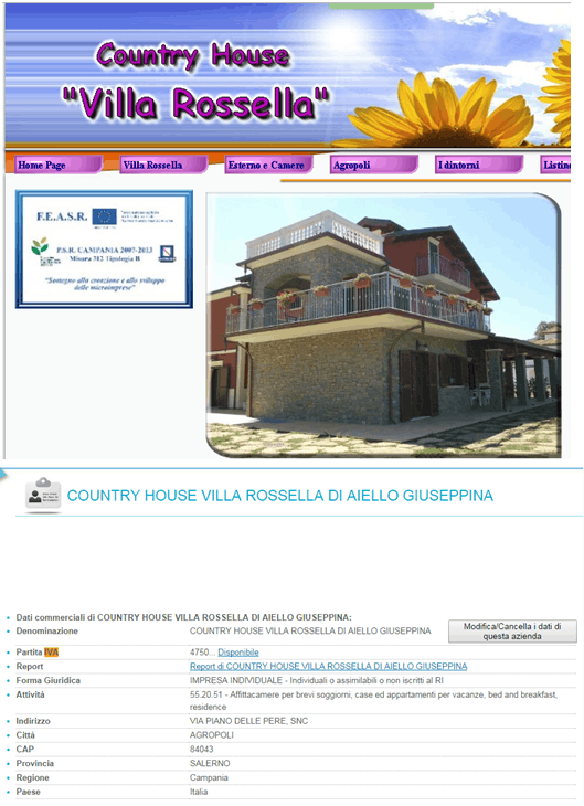 Country House Fondi Europei
