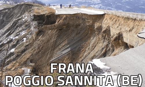 Frana Poggio Sannita Benevento