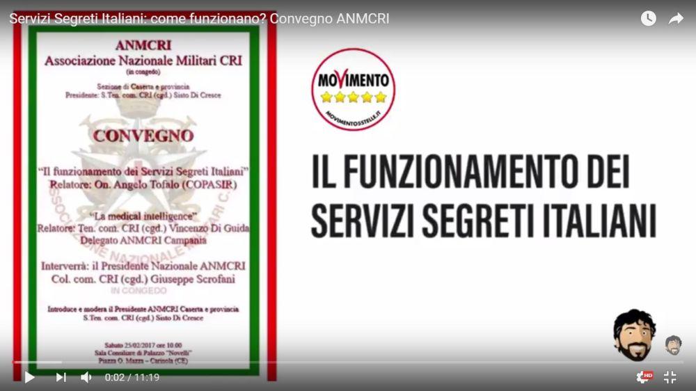 Angelo Tofalo convegno servizi segreti