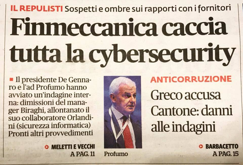 il fatto quotidiano ciber security leonardo